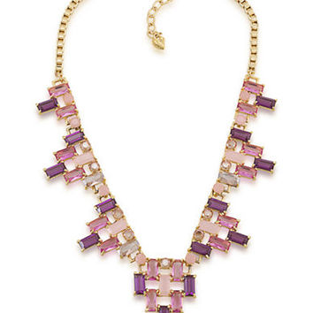 Carolee Modern Rose Gold-Tone and Ombre Cluster Necklace