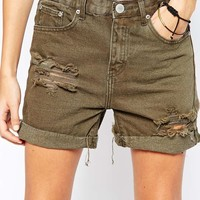 Glamorous Distressed Boyfrend Shorts at asos.com