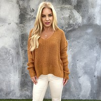 By The Fire Rust Knit Sweater