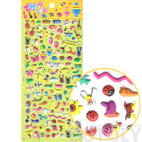 Tiny Mixed Insect Themed Beetle Butterfly Ant Snail Bug Shaped Puffy Stickers for Kids   Cute Scrapbook Decorating Supplies