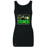 Zexpa Apparel™ I'm Stoned Weed Smoker Women's Tank Top Fun Sleeveless
