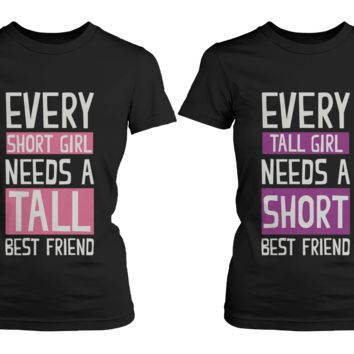 Short and Tall Girls T-Shirts