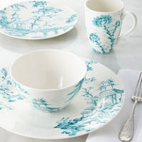 Scalamandre by Lenox Four-Piece Toile Dinnerware Place Setting
