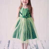 Sparkly Tulle Dress with Gathered Top