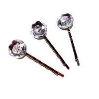 Large Rhinestone Bobby Pins Wedding Prom, Special Occasion Hair Accessories Clear Gem Jewel Bling Hair Pins