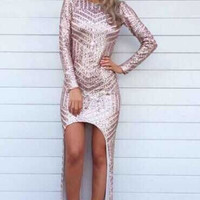 Kaylyn Sequin Maxi Dress