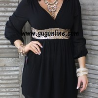 Swept Off My Feet Black and Gold Sequin Dress