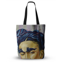 "Jared Yamahata ""Frida Katlo"" Blue People Everything Tote Bag"