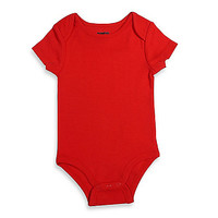 Mayfair Infants Wear Unisex Short-Sleeve Bodysuit in Red