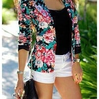 CUTE FLOWER FASHION SUIT SMALL COAT