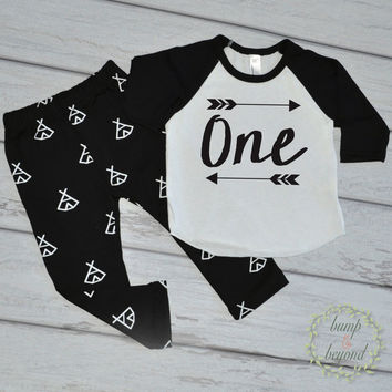 Boy First Birthday Shirt One Birthday Party Shirt Boy 1st Birthday Shirt Arrow Hipster Boy Clothes One Birthday Shirt 014