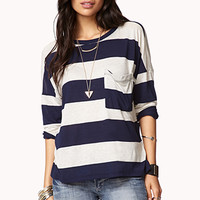 High-Low Striped Top