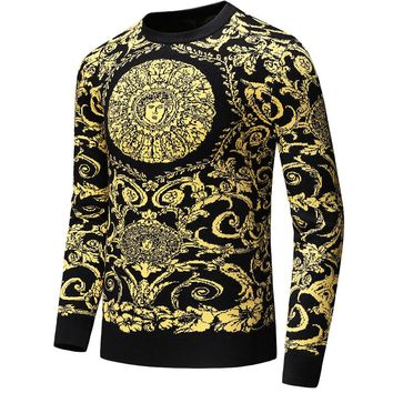 Boys & Men Versace Casual Winter Keep Warm Long Sleeve Top Sweater