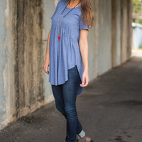 Fervent Of The Heart Top, Blue