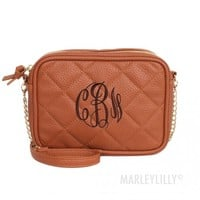 Monogrammed Quilted Cross Body Clutch | Marleylilly