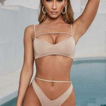 Soho Strappy Detail High Rise Bikini