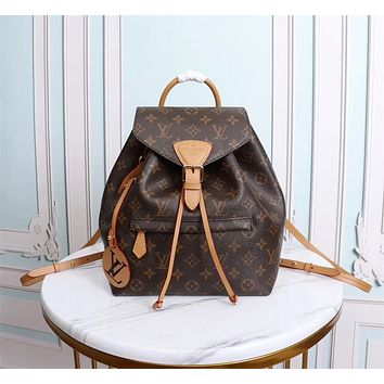 LV Louis Vuitton BEST QUALITY MONOGRAM CANVAS Montsouris BACKPACK BAG