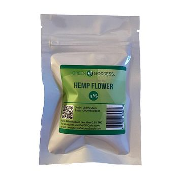 3.5g (one eighth) Hemp Flower Packet