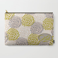 Carry-All Pouch or Laptop Sleeve - Custom, Floral, Pastel, Christmas, Gift, Canvas-like fabric, Travel, Pocket, Cosmetic, Make-up, Toiletry