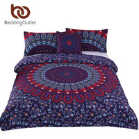 BeddingOutlet Love Stretches Boho Bedding Set Bohemian Style Retro Duvet Cover and Pillowcase Twill Twin Full Queen King Sale
