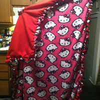 Hello kitty tie blanket by DreamingofForever on Etsy