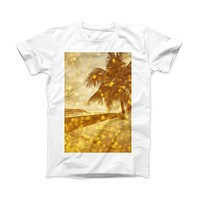The Sun-Kissed Day V1 ink-Fuzed Front Spot Graphic Unisex Soft-Fitted Tee Shirt