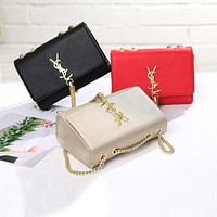 Women Y Letter Small Square Bag Metal Chain Single Shoulder Messenger Bag Handbag