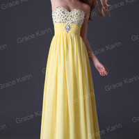 Beads Formal Gown Bridesmaid Cocktail Party Prom Ball Chiffon Evening Long Dress