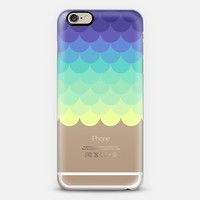 Bright Sea Ombre Scales Transparent  iPhone 6 case by Organic Saturation | Casetify