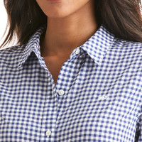 Little Gingham Relaxed Button Down