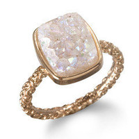Nadia Stackable Druzy Ring, Halo by Dara Ettinger   Charm & Chain