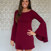 """""""BELL YES"""" Dress: MAROON"""