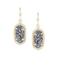 Lee Gold Earrings in Platinum Drusy - Kendra Scott Jewelry