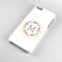 Floral Monogram M iPhone 5c Case