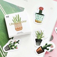 Cactus Stickers Stationery