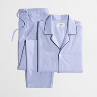 Factory cotton poplin pajama set : Sleepwear | J.Crew Factory