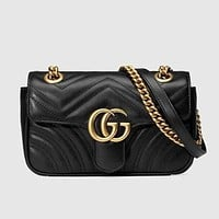 GUCCI Women Shopping Leather Tote Handbag Shoulder Bag Purse Wallet Set bag-11