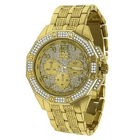 ICEMASTER GOLD FULL BLING WATCH