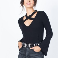 Basic Bell Sleeve Top