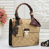 LV Louis Vuitton Women Shopping Leather Tote Crossbody Satchel Shoulder Bag
