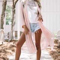 Easy Breeze Blush Embroidered Jacket
