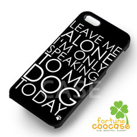 leave me with my dog-NY for iPhone 6S case, iPhone 5s case, iPhone 6 case, iPhone 4S, Samsung S6 Edge