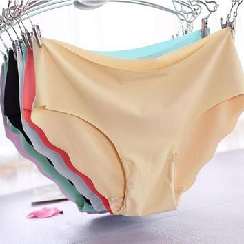 Sexy Women Invisible Seamless Soft Lingerie Briefs Hipster Underwear Panties Ladies Panty