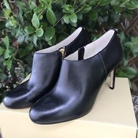Michael Kors Ankle Boots Leather Heels Sz 8 NEW