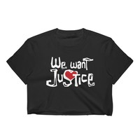 We Want Justice - Sleeved Crop Top