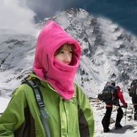 Outdoor Sports Hats Caps Ski Winter Hat Full Face Nodding By Bicycle & Snowboard Sport CS Mask Caps  Hooded Scarfs Thickening Multifu