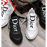 Dior CD classic retro shoes fashion men and women personality casual sneakers