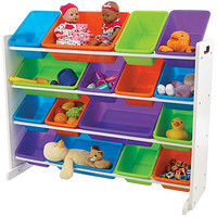 Tot Tutors White with Vivid Colors Super Size Organizer
