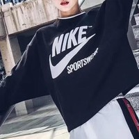 '' NIKE ''Print Sweatshirt Top Sweater I