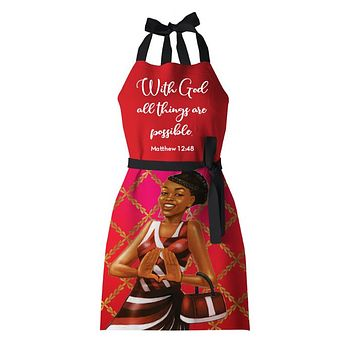 Delta Red/White Apron